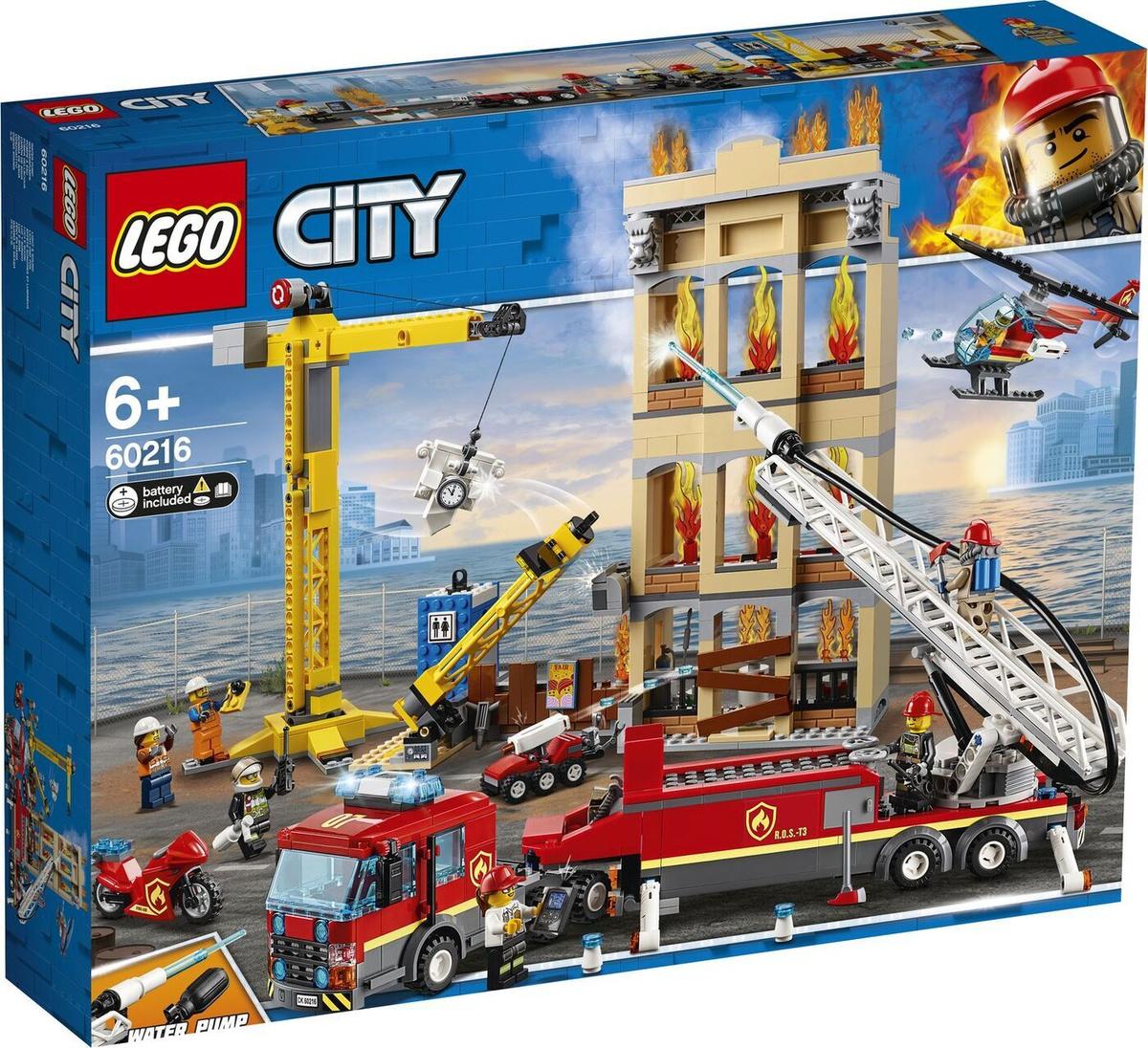 Конструктор LEGO City Fire 60216 Центральная пожарная станция #1
