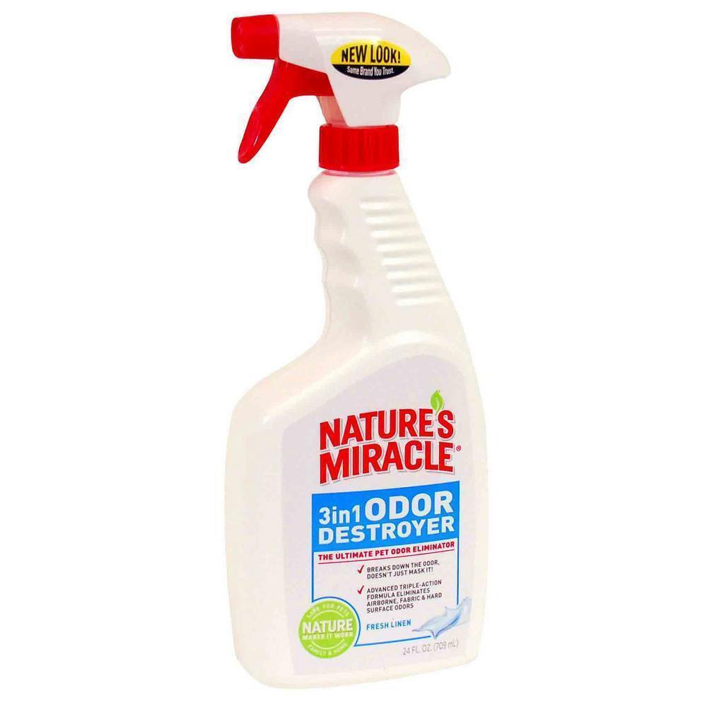 Nature's Miracle Нейтрализатор запахов 3в1 от животных, с ароматом свежего белья, 709 мл (спрей)  #1