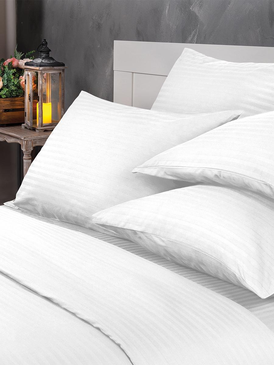 Комплект постельного белья Verossa Royal 2-x спальный, Страйп сатин, наволочки 50x70  #1