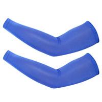 Велосипедные нарукавники из лайкры ярко-синего цвета