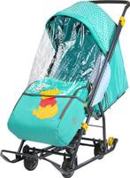 """Санки-коляска Nika Kids """"Disney-baby1 Винни"""", цвет: изумрудный"""