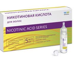 Никотиновая кислота для волос RENEWAL/ Ампулы против выпадения волос/ Активатор роста волос/ Средство для роста волос