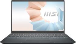"14"" Ноутбук MSI Modern 14 B11SBU-613RU (9S7-14D224-613), Intel Core i5-1155G7 (2.5 ГГц), RAM 16 ГБ, SSD 512 ГБ, NVIDIA GeForce MX450 (2 ГБ), Windows 10 Home, (9S7-14D224-613), серый. Компьютерная техника"