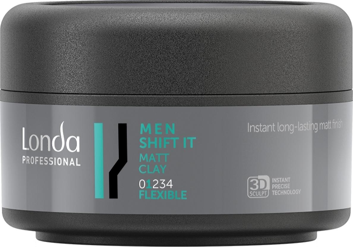 Матовая глина для волос Londa Professional Men Shift It нормальной фиксации, 75 мл create it моделирующий спрей для волос сильной фиксации 300 мл londa professional styling