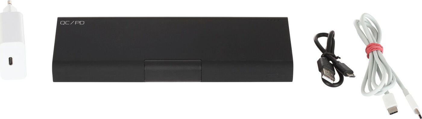 Фото - Внешний аккумулятор Qumo PowerAid 26000 + кабель + зарядное устройство, черный аккумулятор