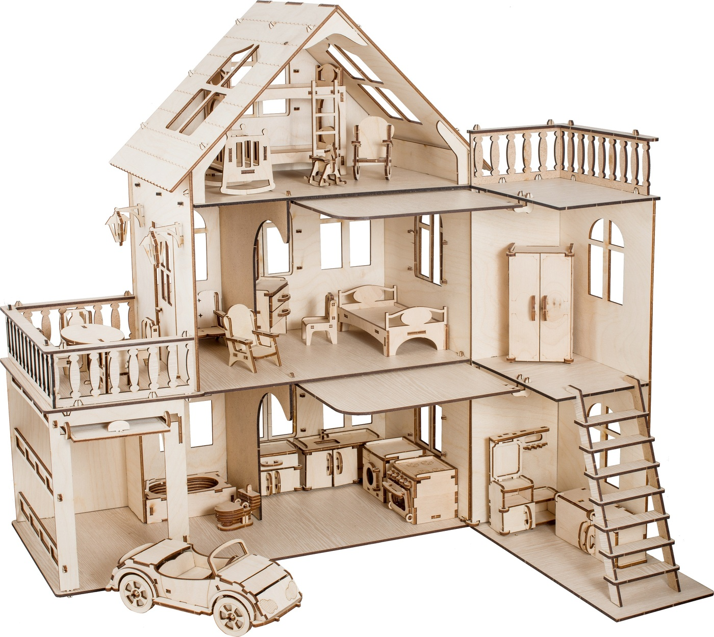 """Кукольный домик """"Чудо-дом с мебелью"""""""