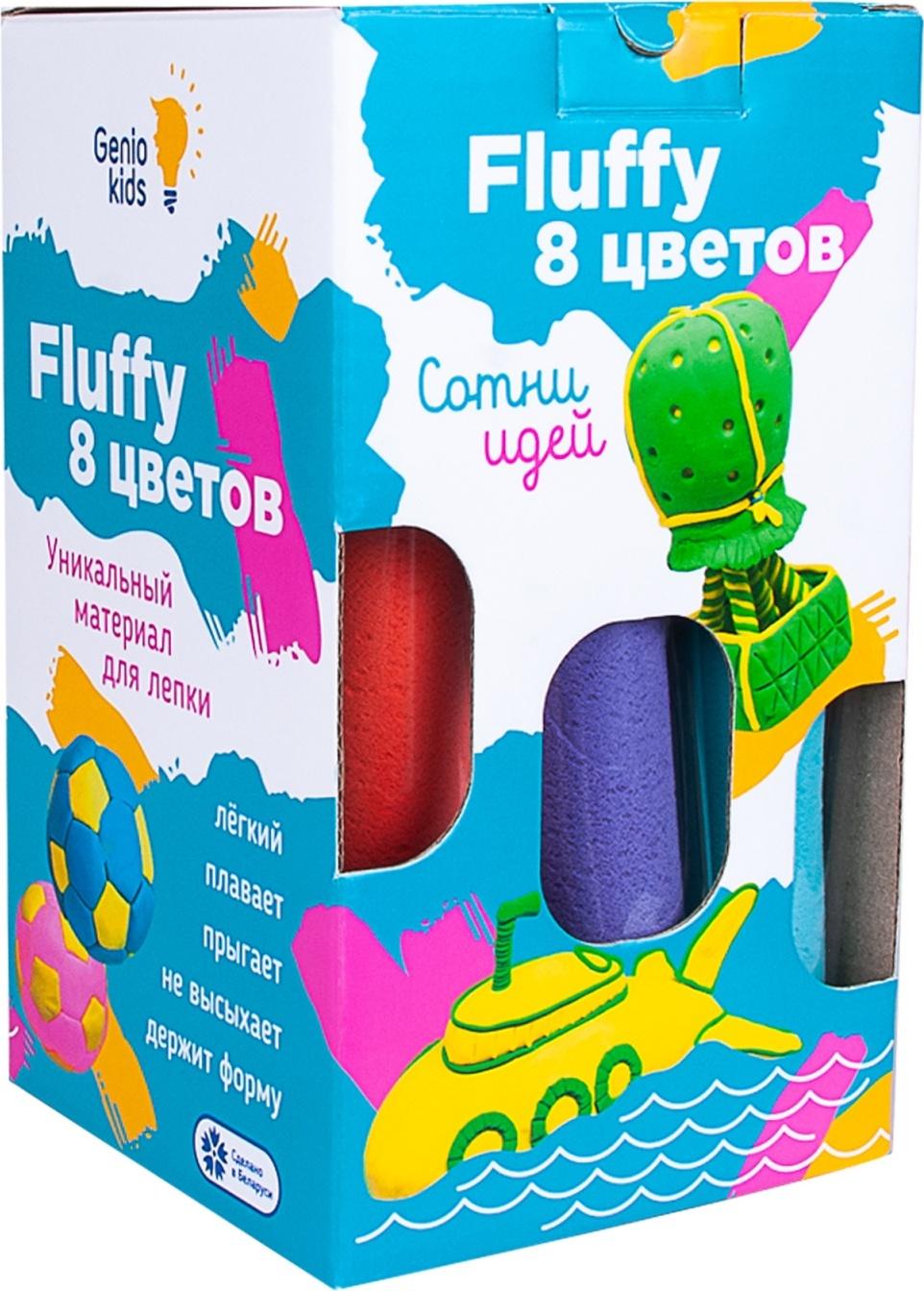 Воздушный пластилин для детской лепки Fluffy 8 цветов