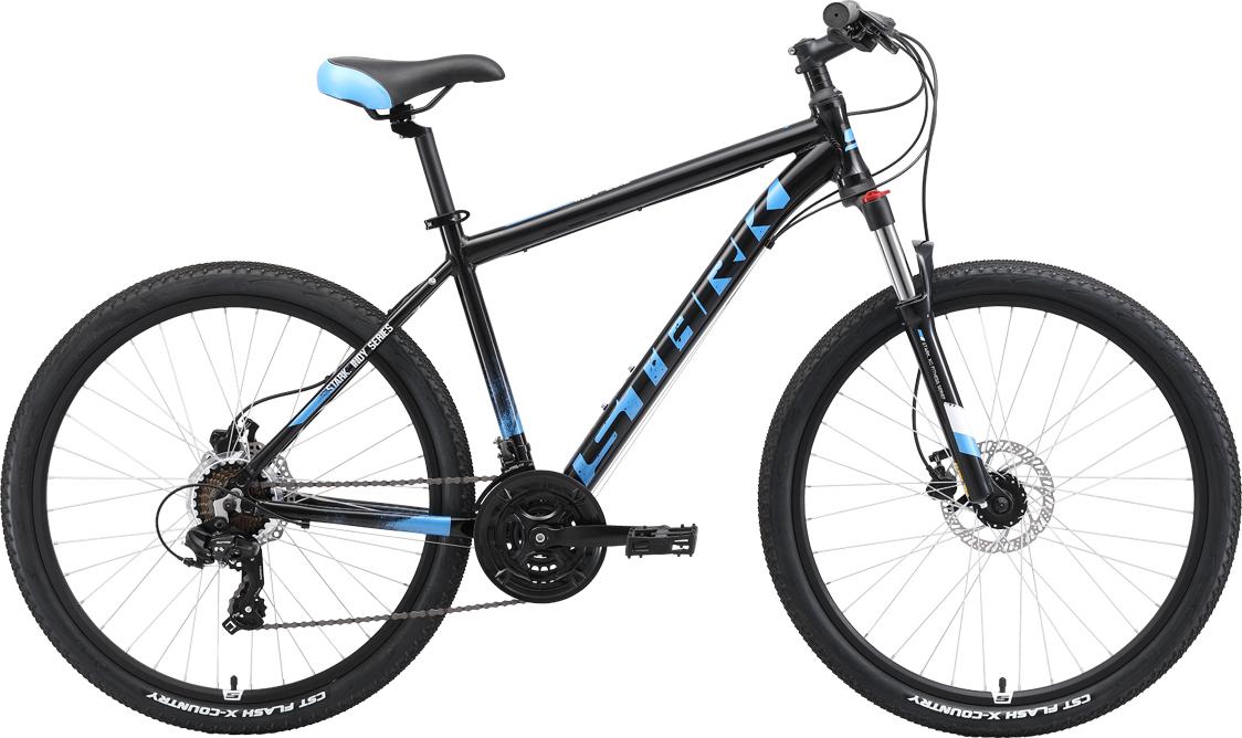 Велосипед STARK Indy 26.2 HD 2019 16 чёрный/синий/голубой цена