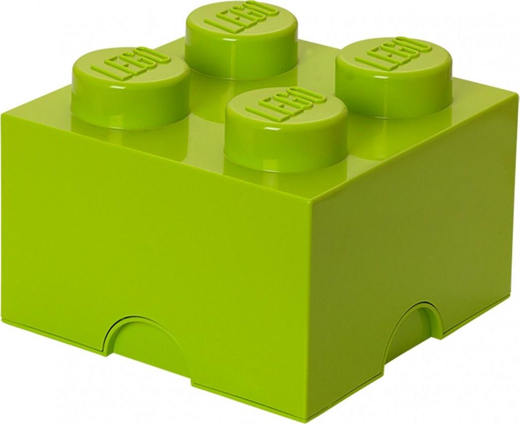 Ящик для хранения 4 LEGO лаймовый