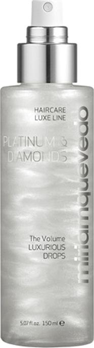 Бриллиантовый спрей-люкс для волос с платиной Miriam Quevedo Platinum & Diamonds The Volume Luxurious Drops 150 мл