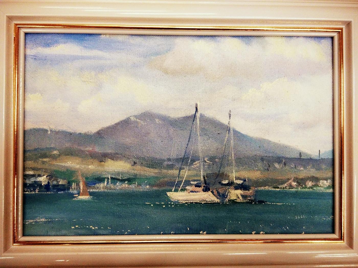 Картина маслом Геленджик Остроумова картина маслом петропавловка клеверов