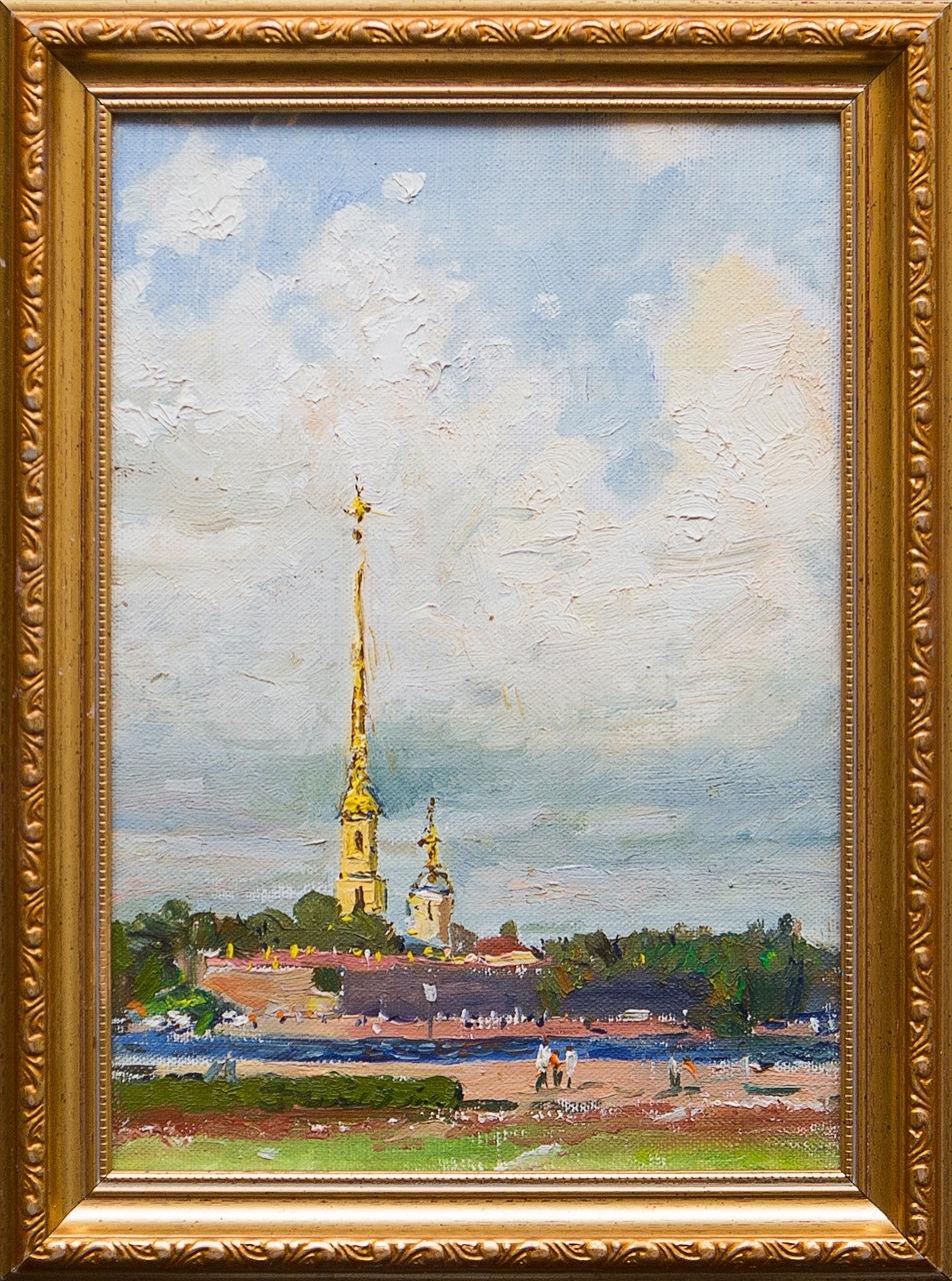 Картина маслом Петропавловский собор Егоров никита егоров птицы