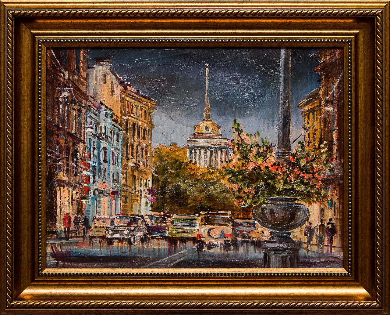 Картина маслом Шумный город Шеренкова картина маслом город шеренкова