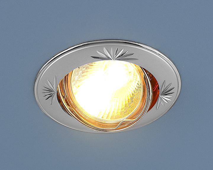 Встраиваемый светильник Elektrostandard Точечный 104A MR16 PS/N, G5.3 встраиваемый светильник elektrostandard 104a mr16 ss gd сатин серебро золото 4607138143980