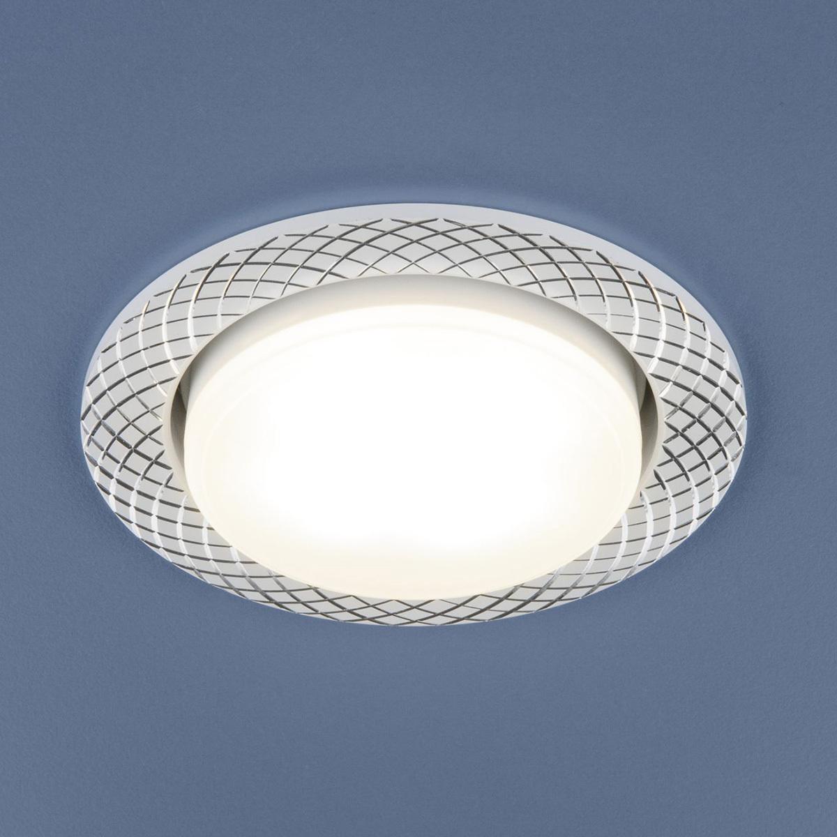 Встраиваемый светильник Elektrostandard Алюминиевый точечный 1071 GX53 WH, GX53 недорго, оригинальная цена
