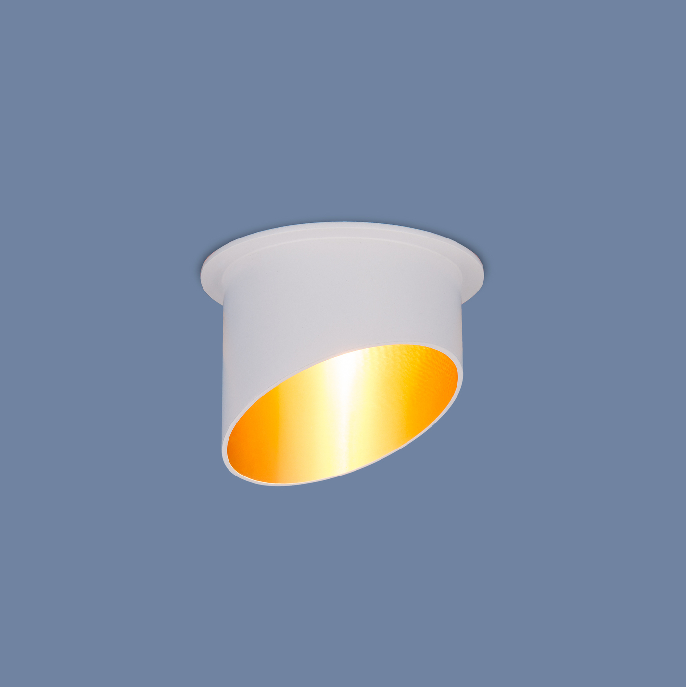 Встраиваемый светильник Elektrostandard точечный 7005 MR16 WH/GD, G5.3 встраиваемый светильник elektrostandard 7002 mr16 wh gd белый золото 4690389082528
