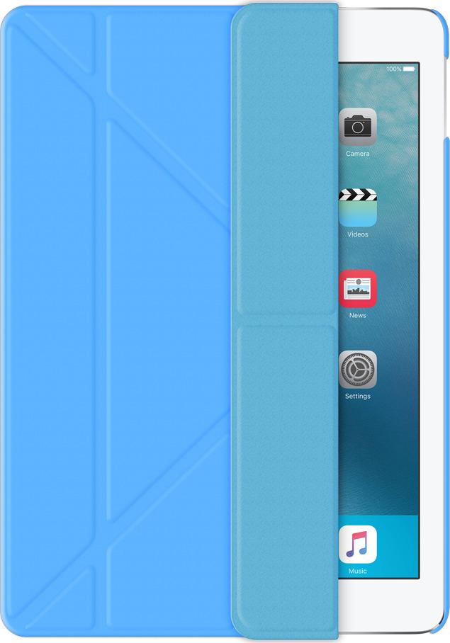 Чехол-подставка Wallet Onzo для Apple iPad Pro 9.7, голубой, Deppa