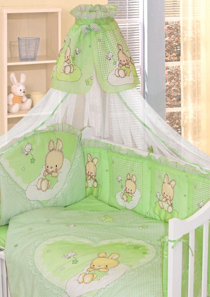 Фото - Комплект в кроватку для новорождённых Степашка, 7 предметов всё для новорождённых