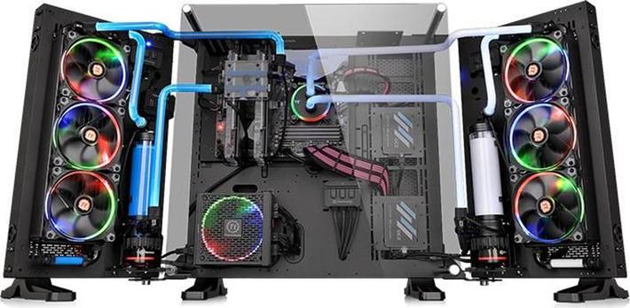 Компьютерный корпус Thermaltake Core P7 TG CA-1I2-00F1WN-00 /Black/Wall Mount/SGCC/Tempered Glass