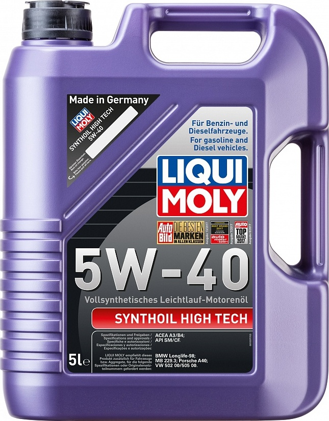 LIQUI MOLY Масло моторное Synthoil High Tech 5W-40  5L