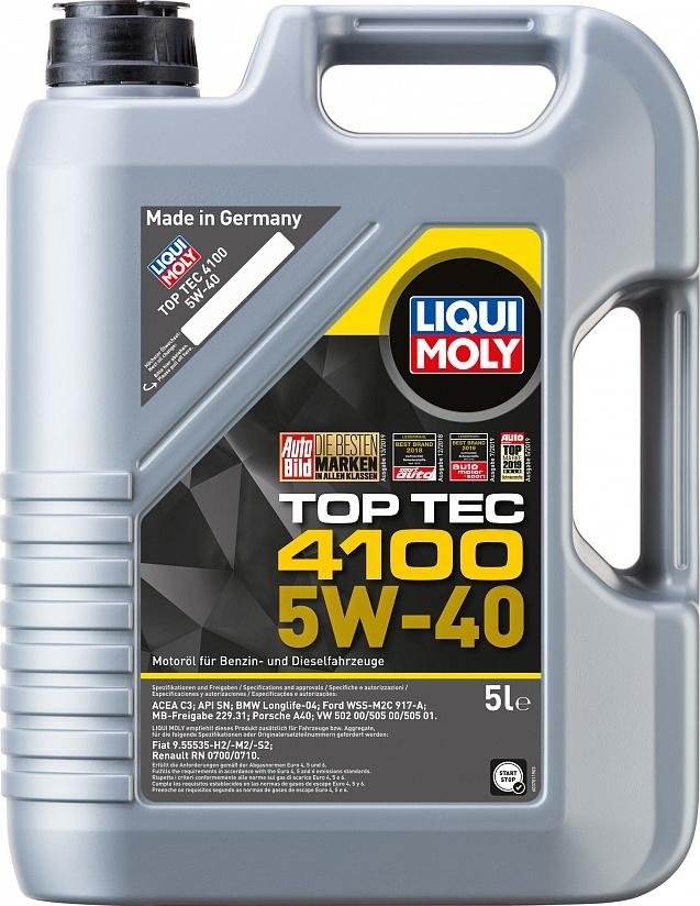 LIQUI MOLY Масло моторное Top Tec 4100 5W-40  5L