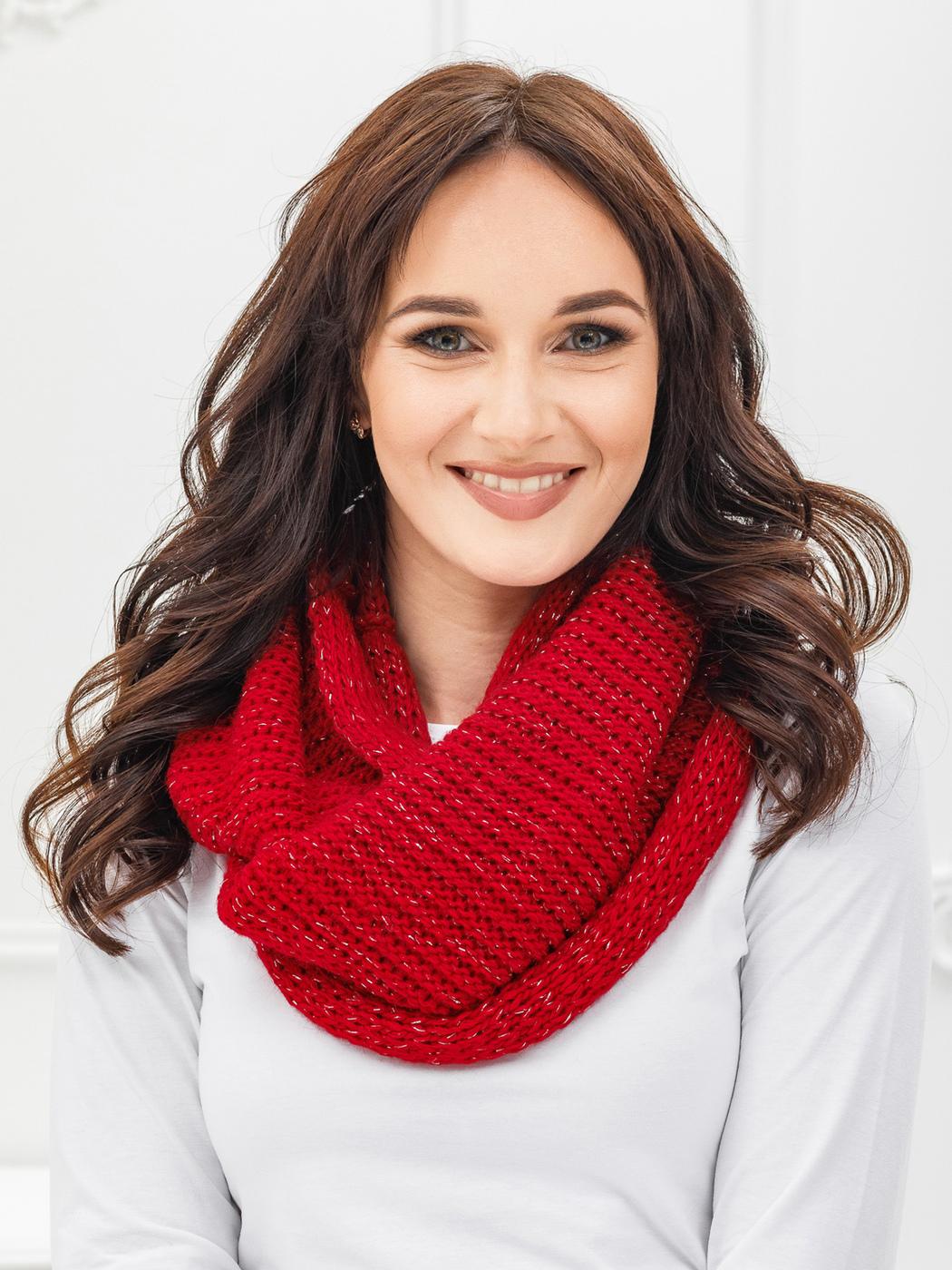 как носить шарф хомут зимой фото нем