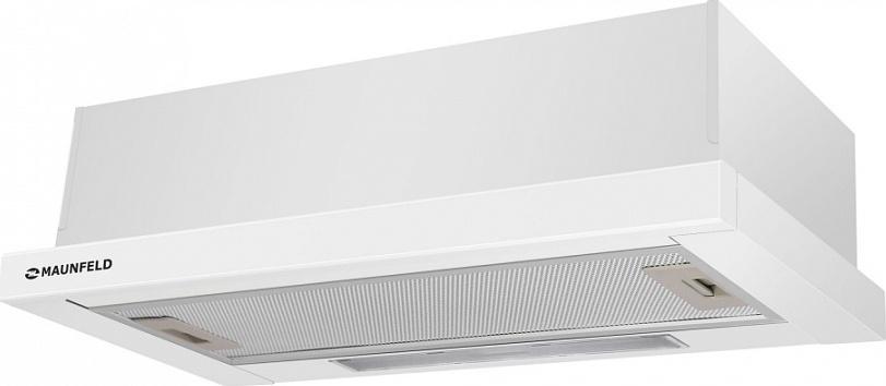 Встраиваемая вытяжка MAUNFELD VS LIGHT 60 белый сталь. Компактная, она идеально подойдет для кухонь до 12 кв.м...