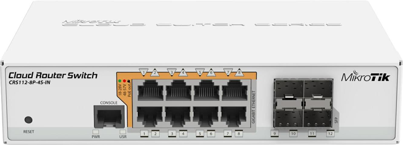 Коммутатор MikroTik CRS112-8P-4S-IN