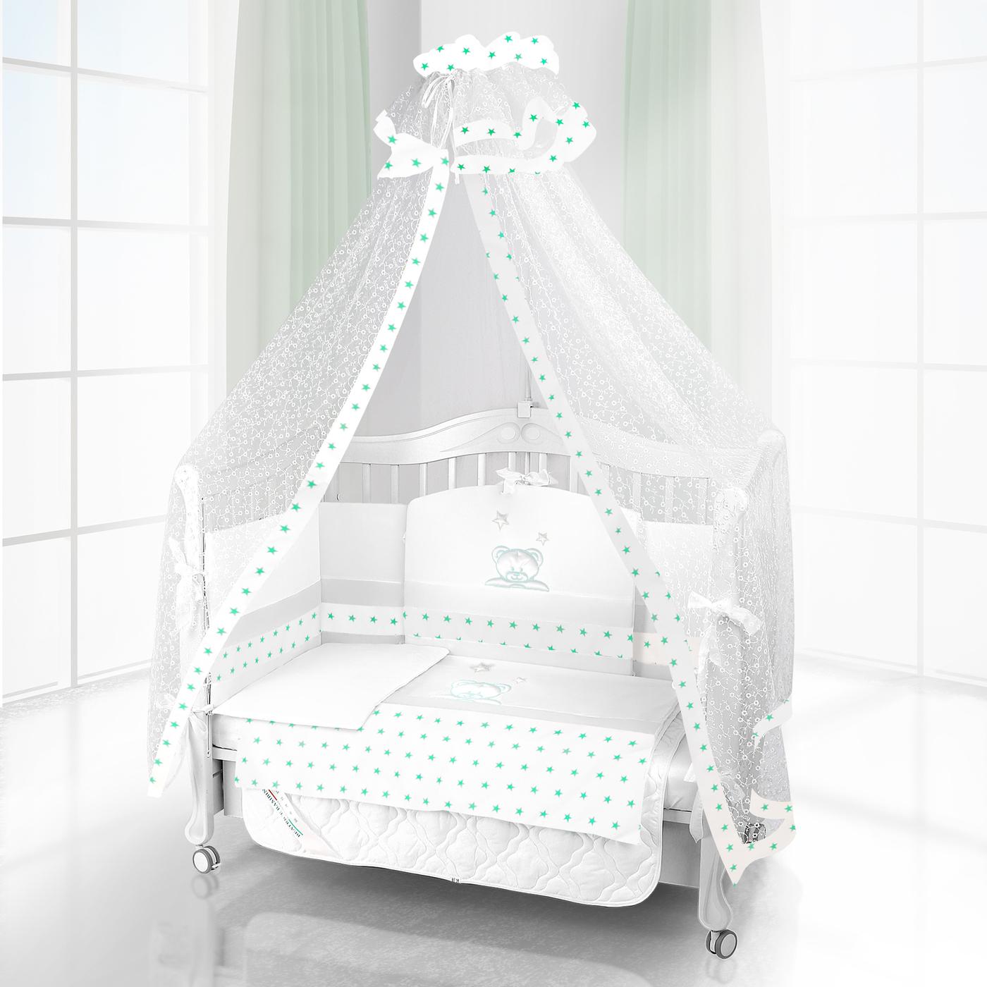 Комплект постельного белья Beatrice Bambini Unico Capolino (120х60) - bianco& bianco& verde