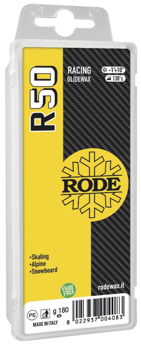 Парафин Rode R50 Racing Glider Yellow, +10?…-1?C, R50-180, желтый, 180 г