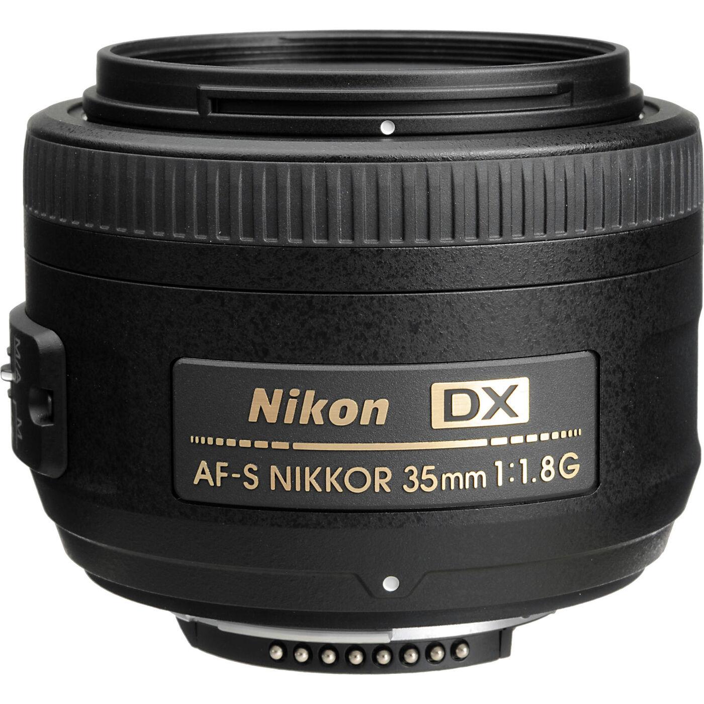 Объектив Nikon AF-S Nikkor DX 35mm f/1.8G, черный