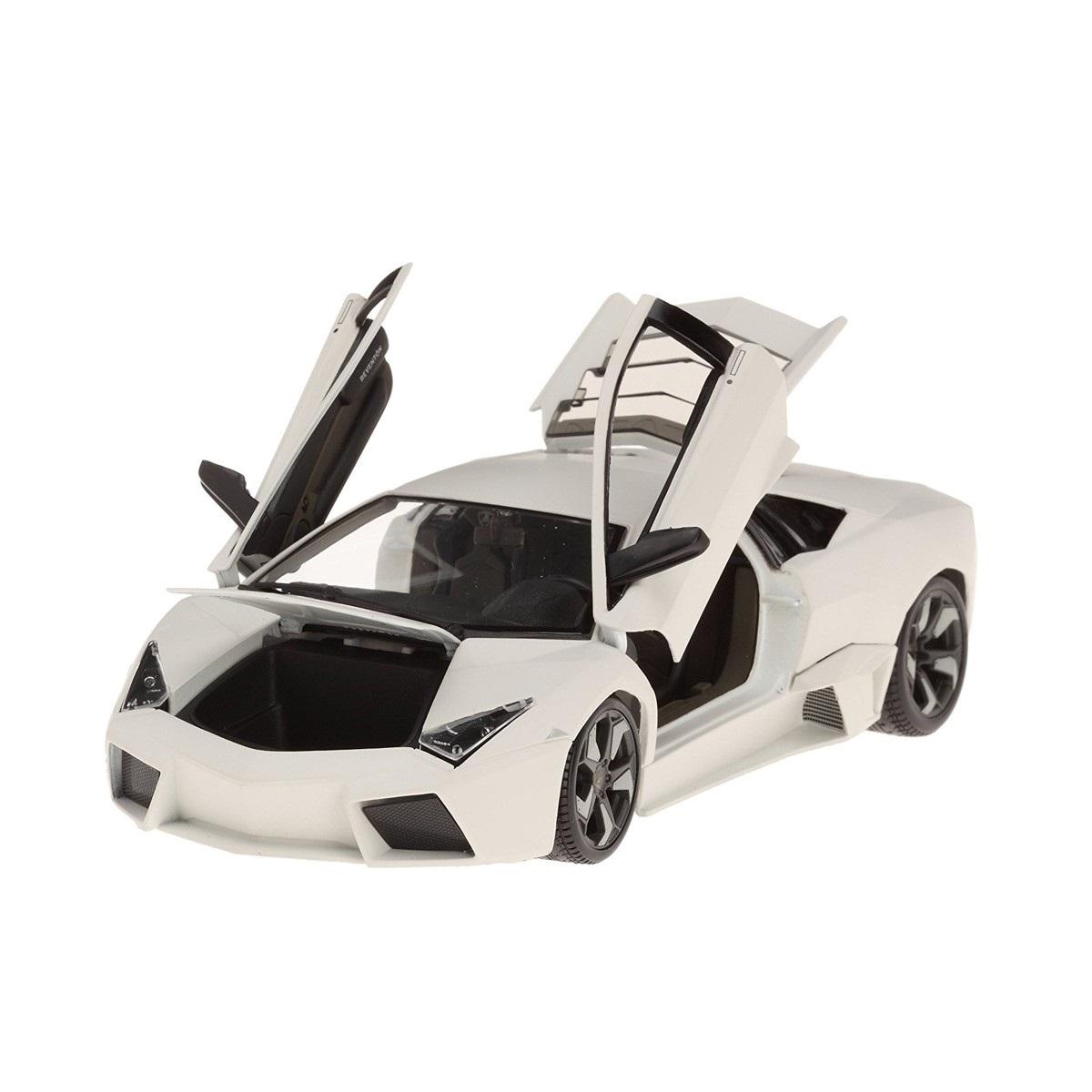 Bburago Машинка металлическая 1:24 Lamborghini Reventon, белый, 18-21041
