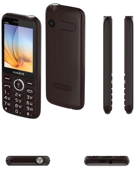 мобильный телефон maxvi k15n, коричневый
