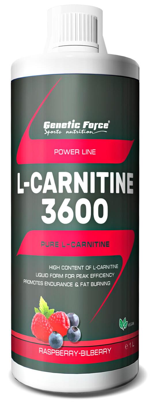 GENETIC FORCE L-CARNITINE 3600 Малина-черника, 1000мл