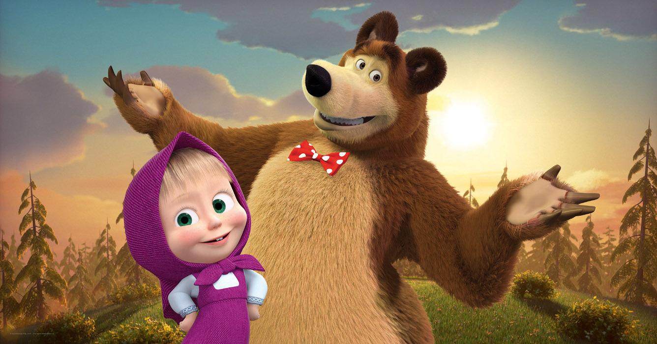 Маша и медведь фотообои хорошее качество