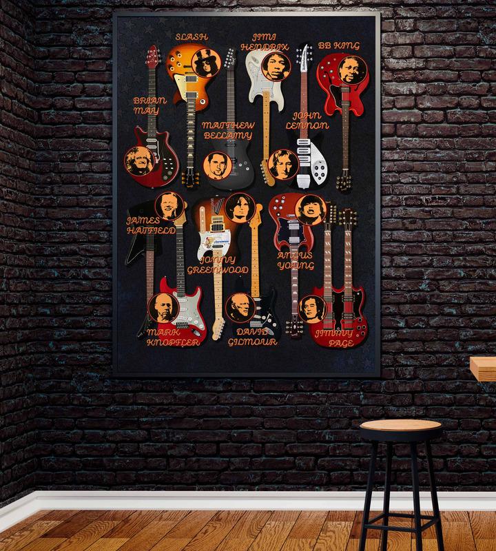 постер в интерьере с гитарой спектакле нет дыр