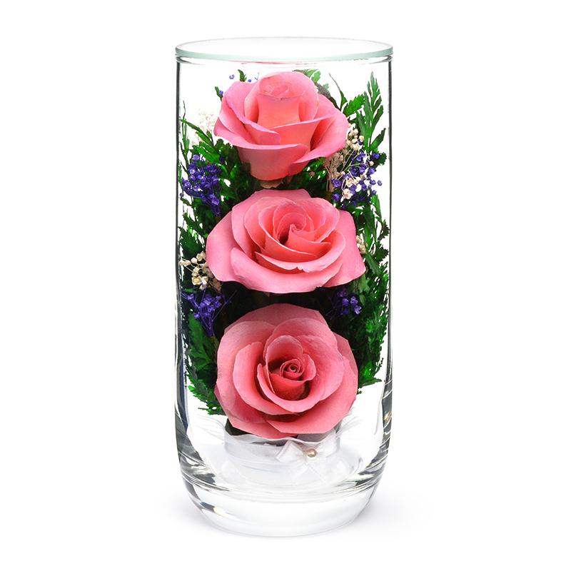 стабилизированные цветы в стекле в вакууме, не вянут 7 лет - nfcsrp