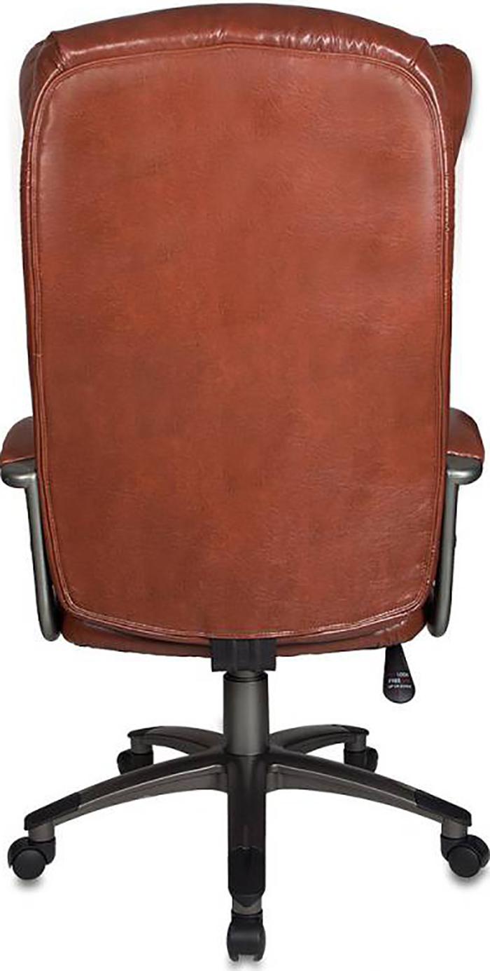 Кресло руководителя Бюрократ CH-879N коричневый Boroko-37 (CH-879N/BROWN), Искусственная кожа