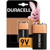 Батарейки щелочные Duracell 6LR61/Крона 9V, 1 шт - изображение