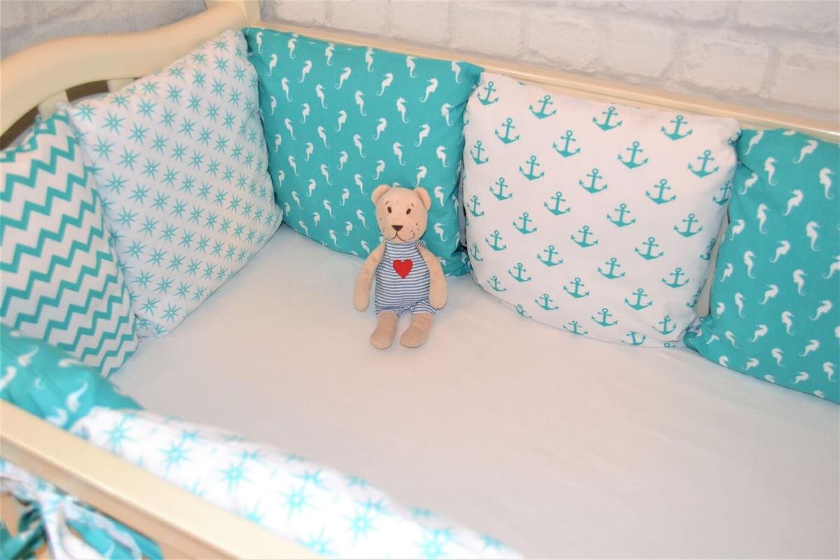 бортики сетка в кроватку