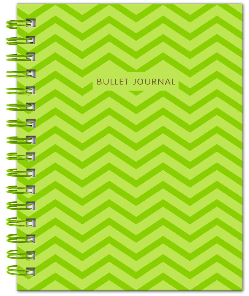 Bullet Journal (Зеленый) 162x210мм, твердая обложка, пружина, блокнот в точку, 120 стр. | Нет автора #1