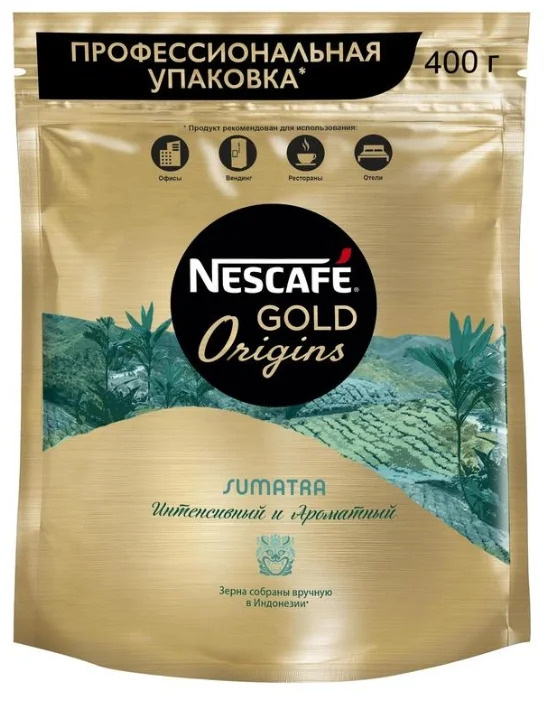 Кофе растворимый Nescafe Gold Origins Sumatra, 400 гр #1