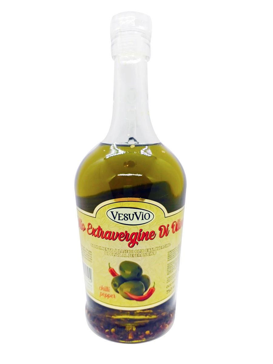 Оливковое масло нерафинированное с перцем Чили Vesuvio 750 мл  #1