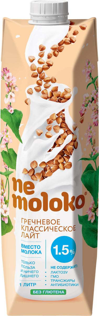 """Растительное молоко Nemoloko Лайт"""" гречневое обогащенное кальцием и витамином В2, 1,5%, 1 л  #1"""