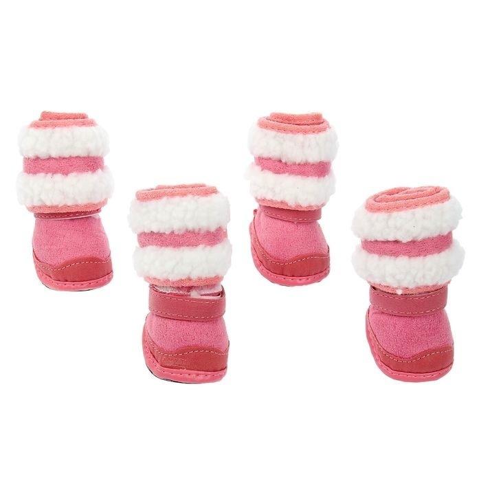 """Ботинки """"Унты"""", набор 4 шт, розовые #1"""
