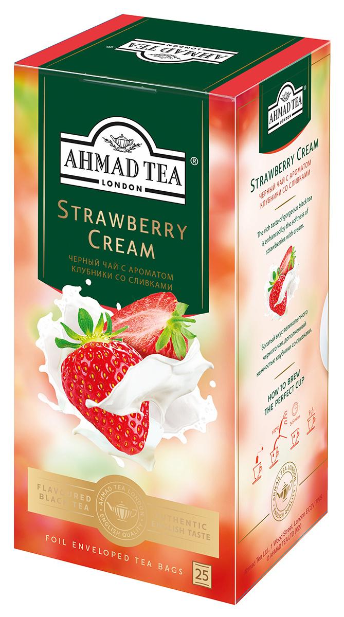 Ahmad Tea Strawberry Cream черный чай в пакетиках, 25 шт #1