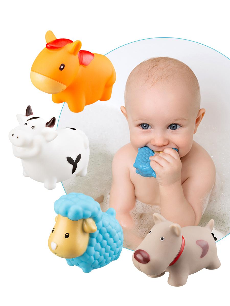"""Игрушки для ванной для детей ROXY-KIDS """"Моя ферма"""", 4 шт #1"""