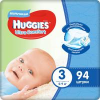 Huggies Подгузники для мальчиков Ultra Comfort 5-9 кг (размер 3) 94 шт. Наши лучшие предложения