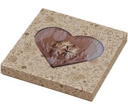 Подарочный набор Фраде Для Валентинки (вместе с ложементом) с шоколадной плиткой в форме сердца. Наши бестселлеры