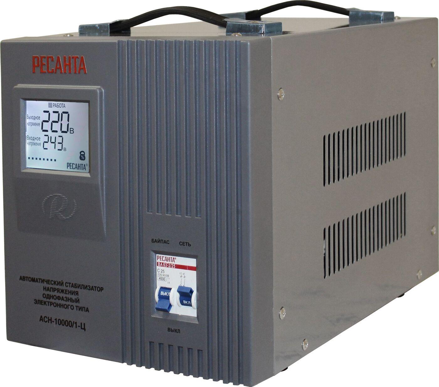 Стабилизатор напряжения Ресанта АСН-10 000/1-Ц стабилизаторы напряжения